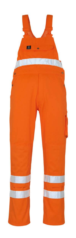 00469-860-14 Overall med knelommer - hi-vis oransje