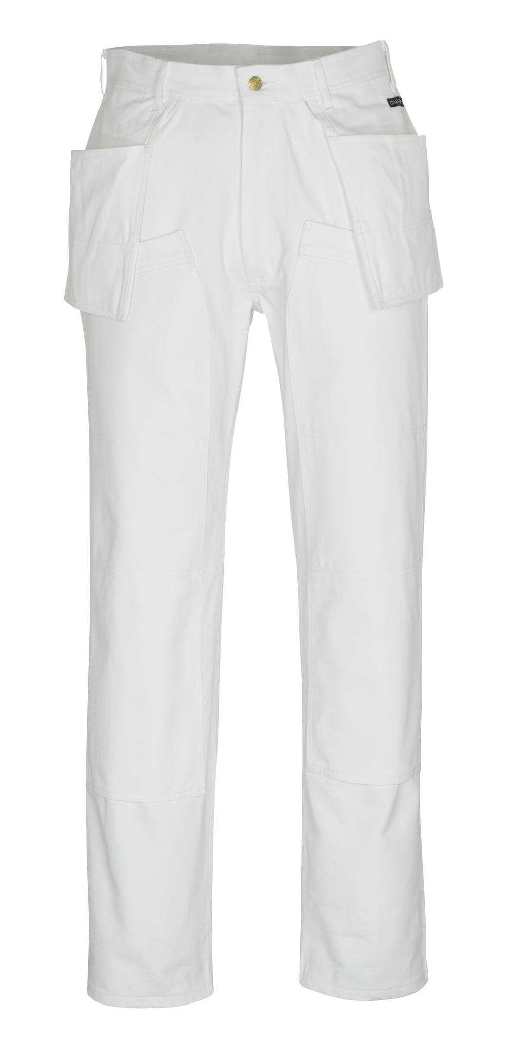00538-630-06 Bukser med kne- og hengelommer - hvit