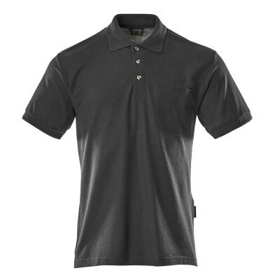 00783-260-010 Pikéskjorte med brystlomme - mørk marine