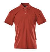00783-260-02 Pikéskjorte med brystlomme - rød