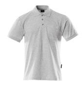 00783-260-08 Pikéskjorte med brystlomme - grå melert