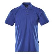00783-260-11 Pikéskjorte med brystlomme - kobolt