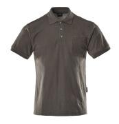 00783-260-18 Pikéskjorte med brystlomme - mørk antrasitt
