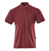 00783-260-22 Pikéskjorte med brystlomme - bordeaux