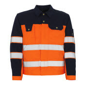 00909-860-141 Jakke - hi-vis oransje/marine