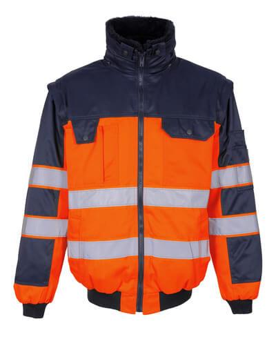 00920-660-141 Pilotjakke - hi-vis oransje/marine