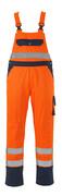 00969-860-141 Overall med knelommer - hi-vis oransje/marine