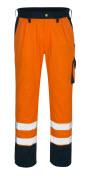 00979-860-141 Bukser med knelommer - hi-vis oransje/marine