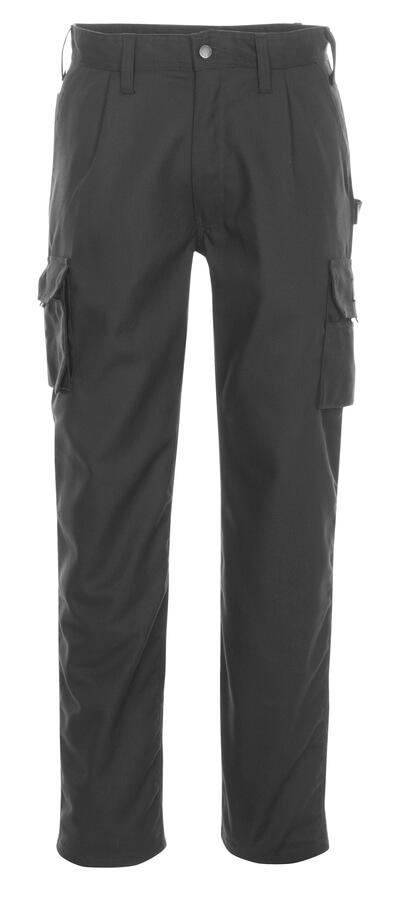 03079-010-09 Bukser med lårlommer - svart