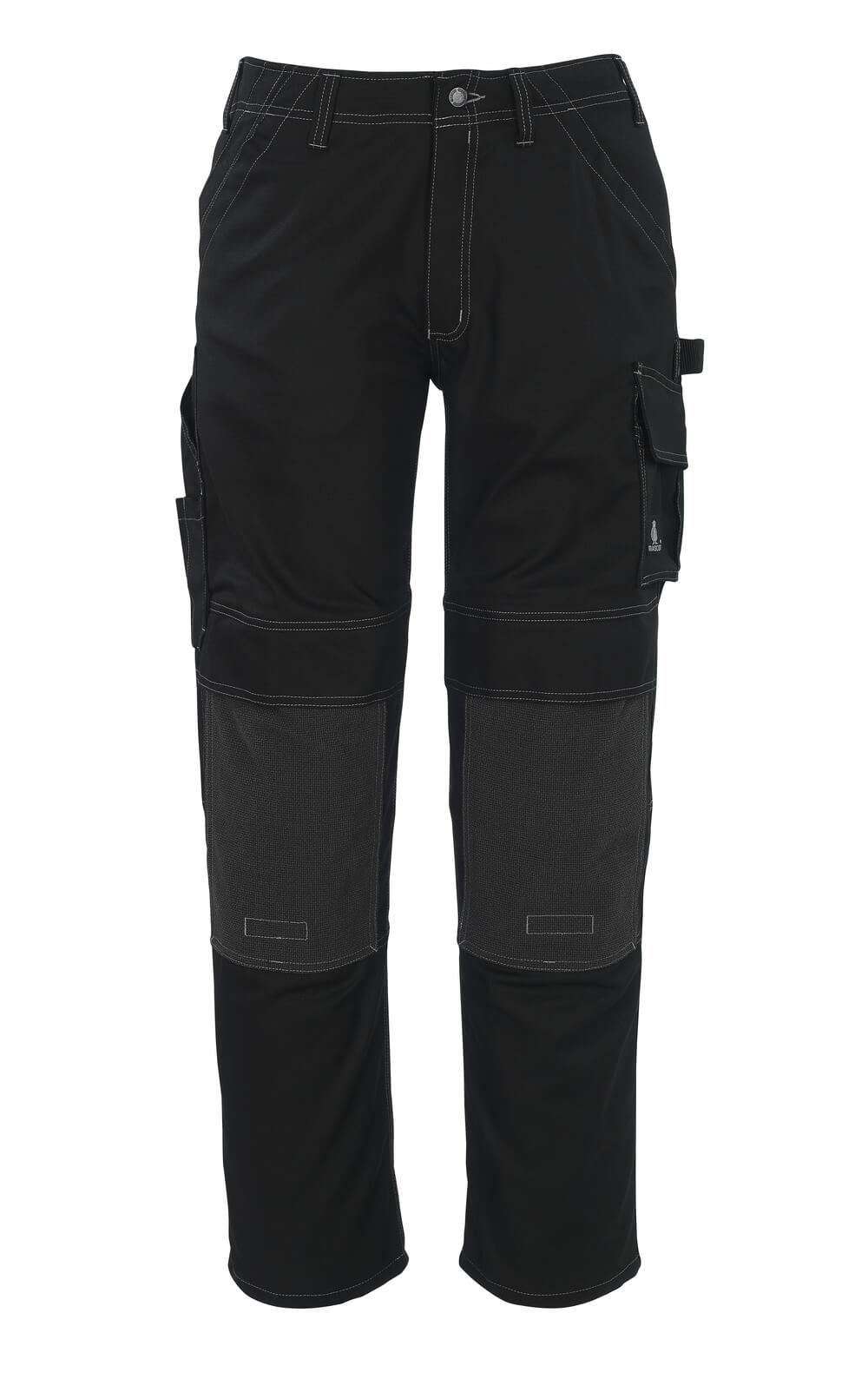05079-010-09 Bukser med knelommer - svart