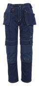 06131-630-01 Bukser med kne- og hengelommer - marine