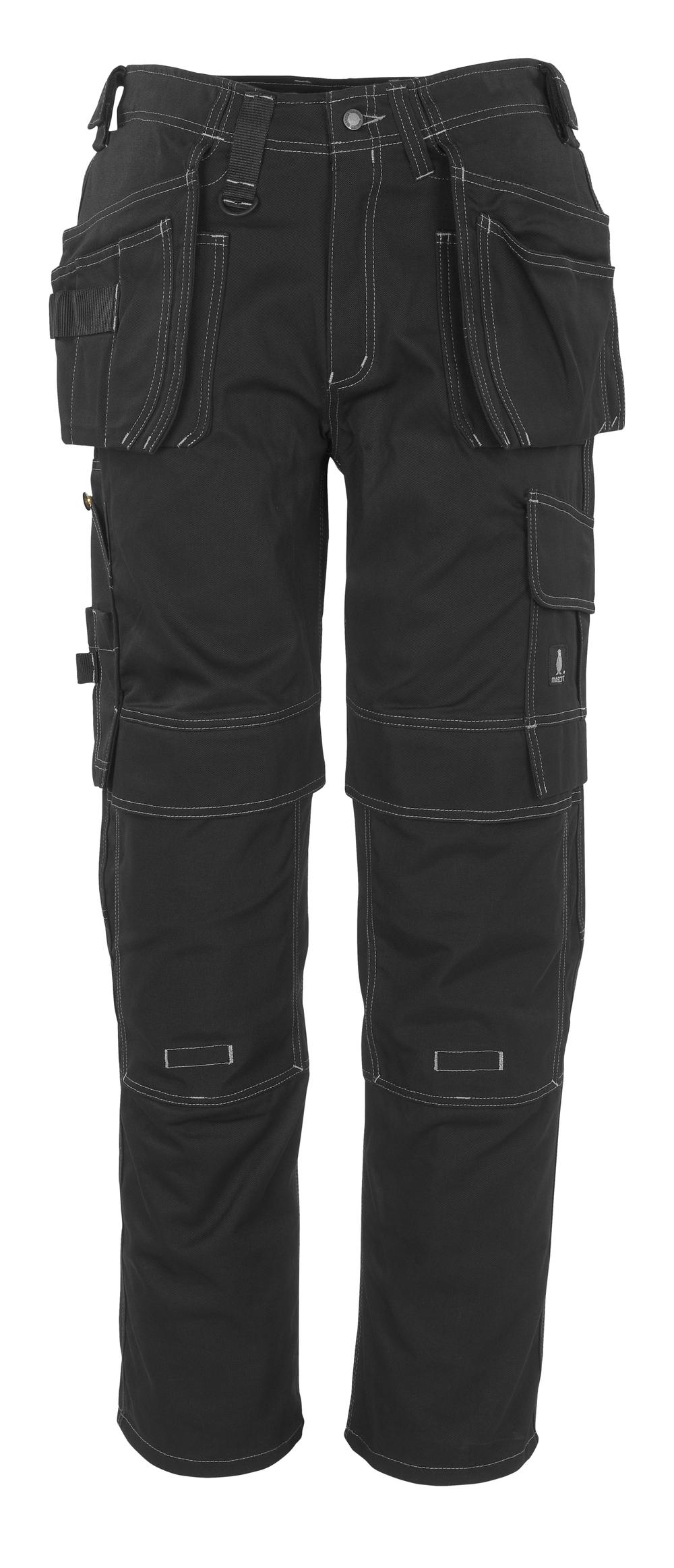 06131-630-09 Bukser med kne- og hengelommer - svart