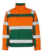 07109-860-1403 Jakke - hi-vis oransje/grønn