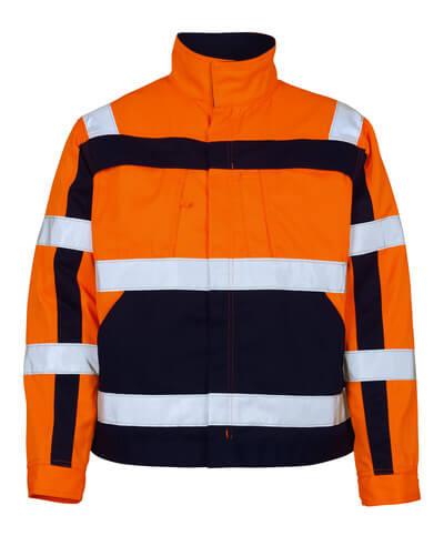 906475bd 07109-860-141 Jakke - hi-vis oransje/marine