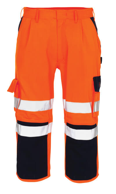 07149-860-141 Piratbukser med knelommer - hi-vis oransje/marine