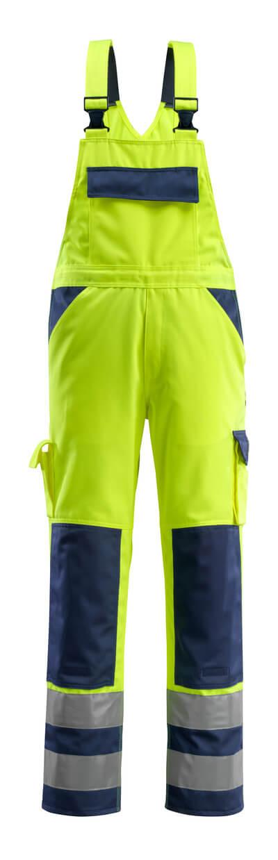 07169-470-171 Overall med knelommer - hi-vis gul/marine