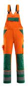 07169-860-1403 Overall med knelommer - hi-vis oransje/grønn
