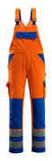 07169-860-1411 Overall med knelommer - hi-vis oransje/kobolt