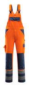 07169-860-141 Overall med knelommer - hi-vis oransje/marine