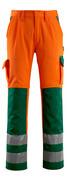 07179-860-1403 Bukser med knelommer - hi-vis oransje/grønn