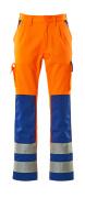 07179-860-1411 Bukser med knelommer - hi-vis oransje/kobolt