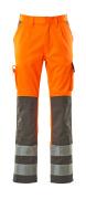 07179-860-14888 Bukser med knelommer - hi-vis oransje/antrasitt