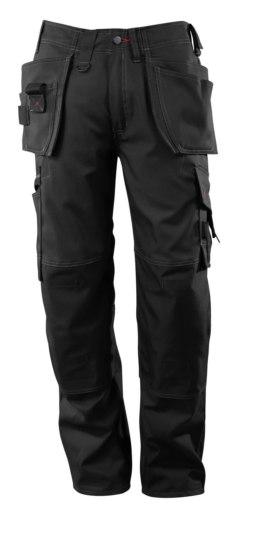07379-154-09 Bukser med kne- og hengelommer - svart
