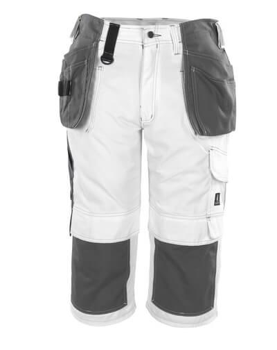08349-154-06 Piratbukser med kne- og hengelommer - hvit