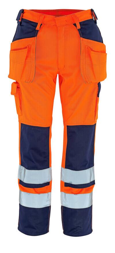 09131-860-141 Bukser med kne- og hengelommer - hi-vis oransje/marine
