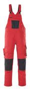 12069-203-0209 Overall med knelommer - rød/svart