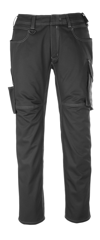 12079-203-0918 Bukser med lårlommer - svart/mørk antrasitt