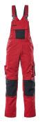 12169-442-0209 Overall med knelommer - rød/svart