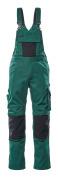 12169-442-0309 Overall med knelommer - grønn/svart