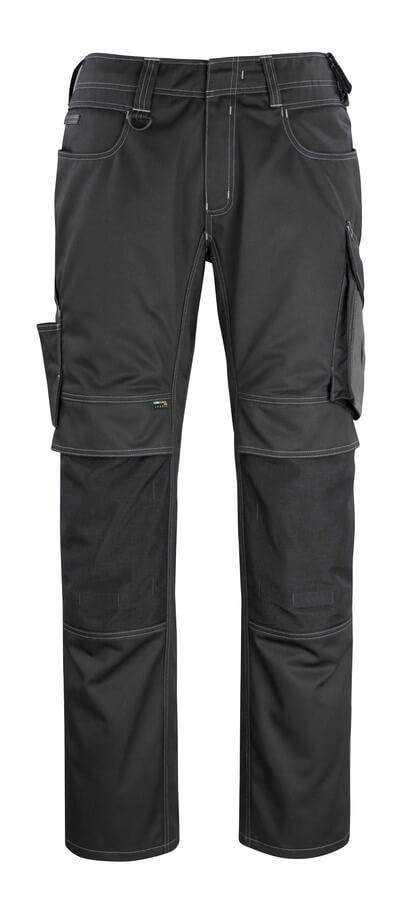 12179-203-0918 Bukser med knelommer - svart/mørk antrasitt