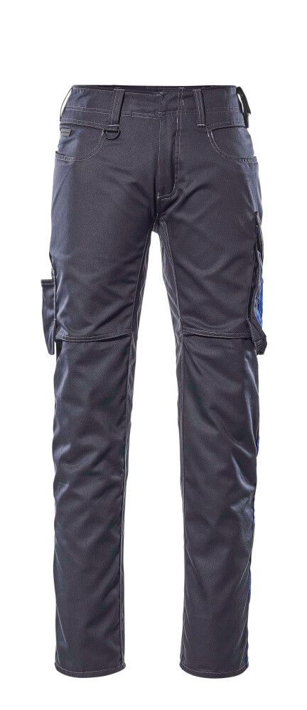 12579-442-01011 Bukser med lårlommer - mørk marine/kobolt
