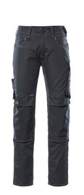 12679-442-0918 Bukser med knelommer - svart/mørk antrasitt