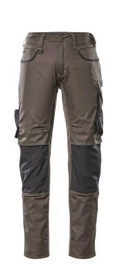 13079-230-1809 Bukser med knelommer - mørk antrasitt/svart