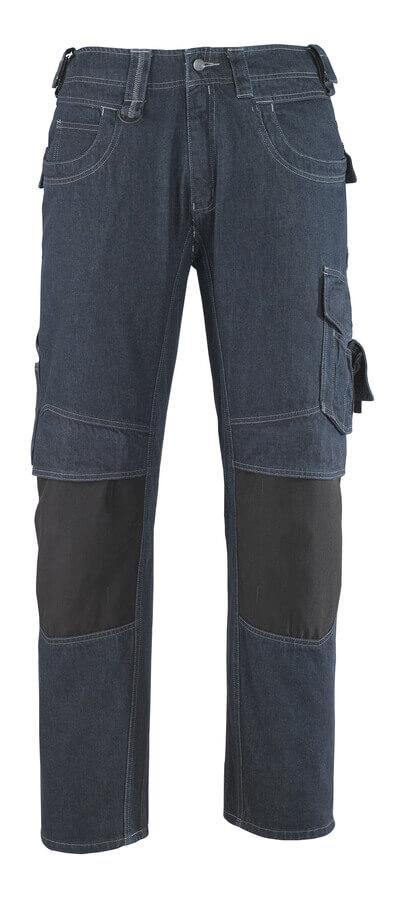 13279-207-B52 Jeans med knelommer - denimblå