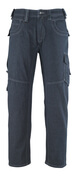 13379-207-B52 Jeans med lårlommer - denimblå