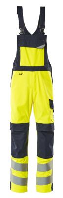 13869-216-17010 Overall med knelommer - hi-vis gul/mørk marine
