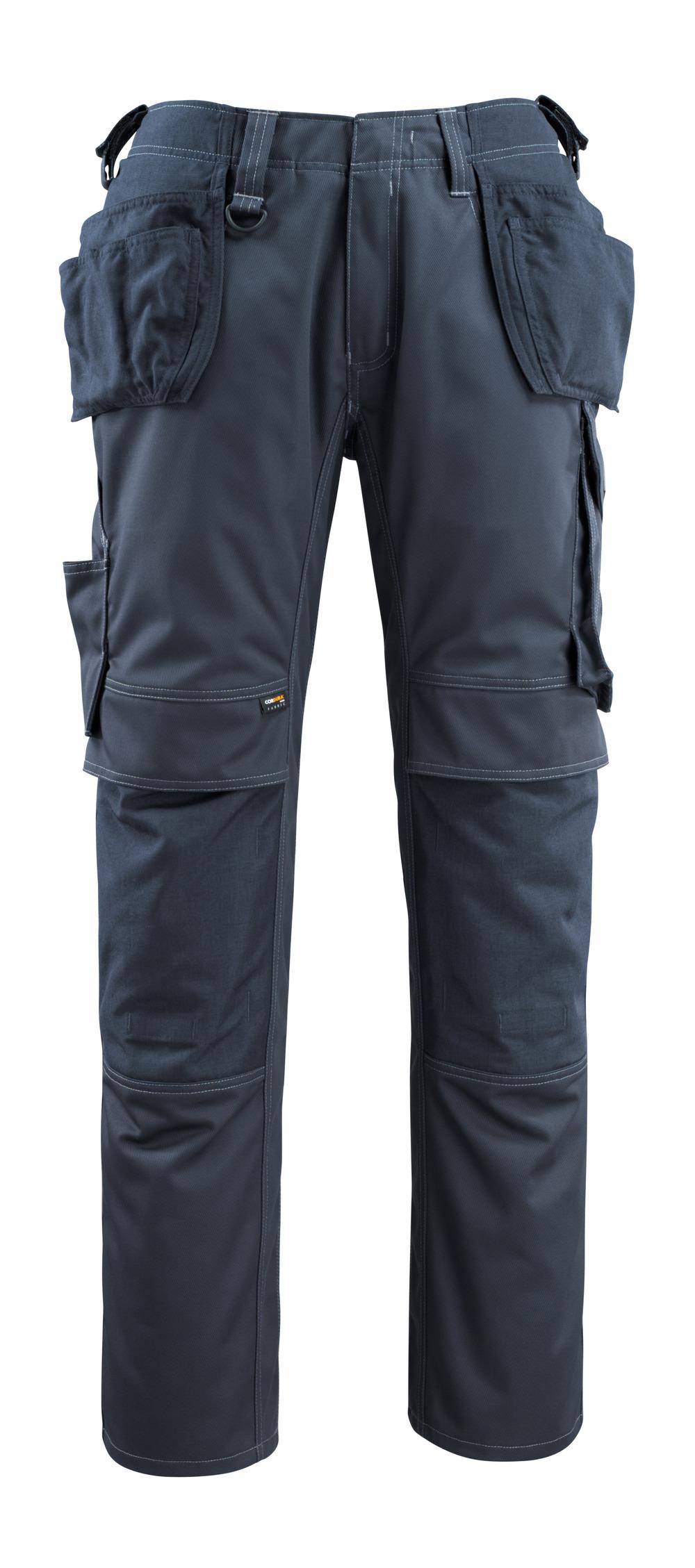 14131-203-010 Bukser med kne- og hengelommer - mørk marine