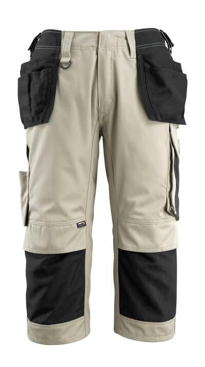 14349-442-0618 Piratbukser med kne- og hengelommer - hvit/mørk antrasitt