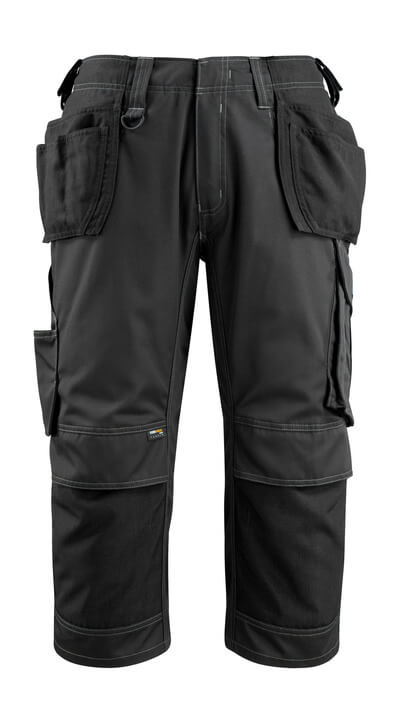 14449-442-09 Piratbukser med kne- og hengelommer - svart