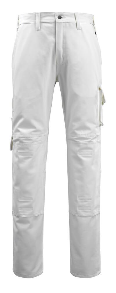 14579-197-06 Bukser med knelommer - hvit