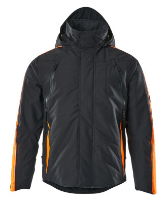 15035-222-01014 Vinterjakke - mørk marine/hi-vis oransje