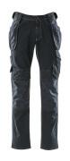 15131-207-86 Jeans med hengelommer - mørk blå denim