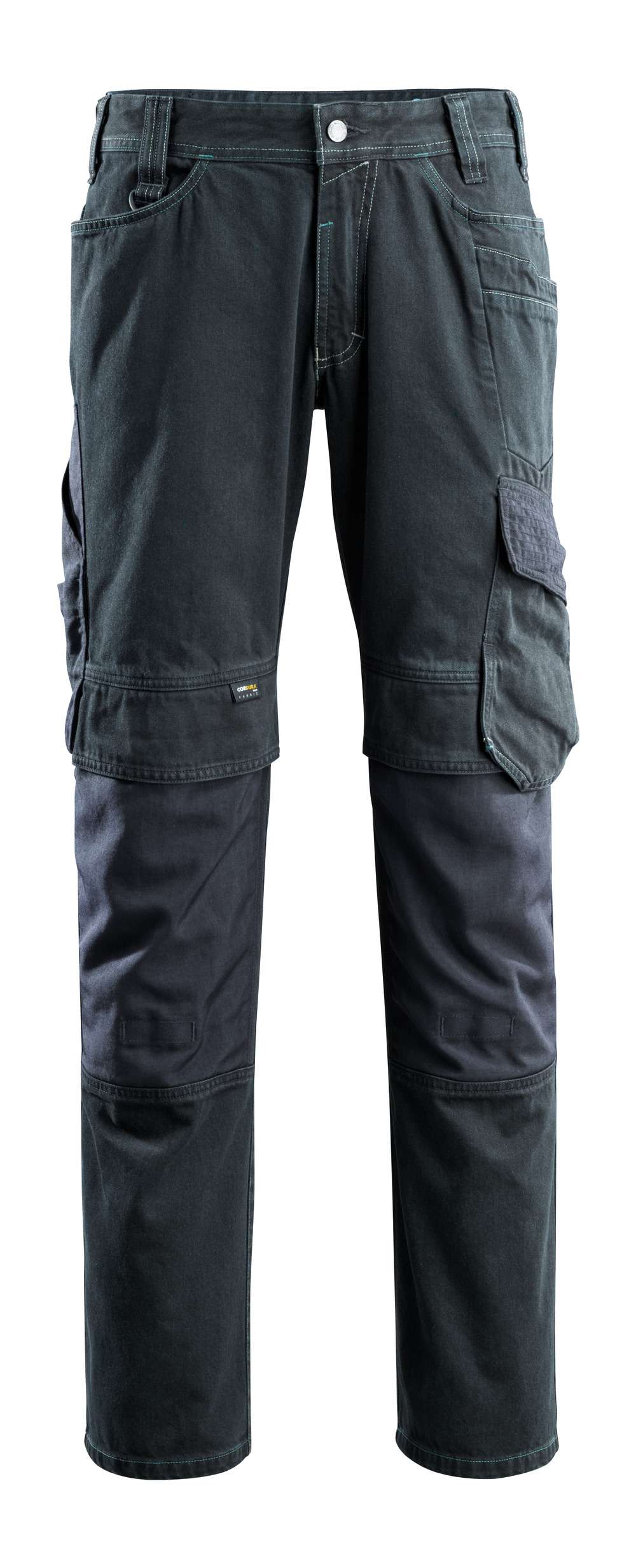 15179-207-86 Jeans med knelommer - mørk blå denim