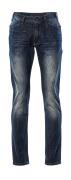 15379-869-66 Jeans - vasket mørk blå denim
