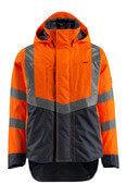 15501-231-14010 Skalljakke - hi-vis oransje/mørk marine