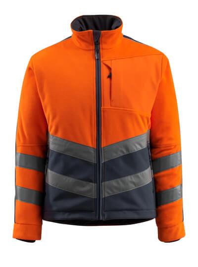 15503-259-14010 Fleecejakke - hi-vis oransje/mørk marine